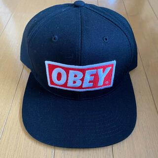 Obey ボックスロゴ スナップバック キャップ