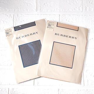 BURBERRY - 新品 BURBERRY バーバリー ストッキング 2足組 L~LL ベージュ 黒