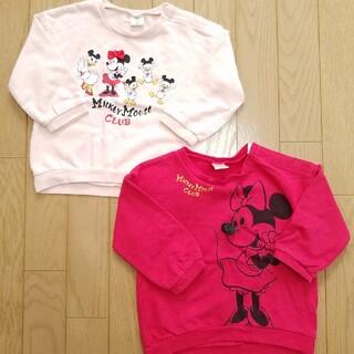 ディズニー(Disney)の【90】ミニーちゃん 長袖服(Tシャツ/カットソー)