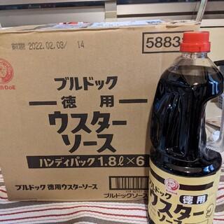 ニッシンセイフン(日清製粉)のブルドックウスターソース1.8L6本+たこ焼き粉20袋(調味料)