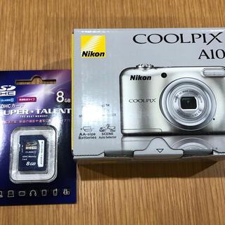 Nikon - Nikon クールピクス COOLPIX A10 SDカード 8GB デジカメ