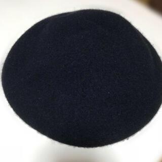 ジーユー(GU)のGU ベレー帽🖤黒🖤(ハンチング/ベレー帽)