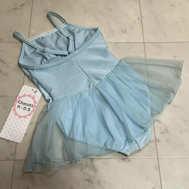 CHACOTT(チャコット)の新品 チャコット chacott スカート付レオタード 100 キャミ ブルー キッズ/ベビー/マタニティのキッズ服女の子用(90cm~)(その他)の商品写真