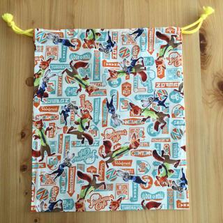 ディズニー(Disney)の巾着(36×30) 体操着袋 給食着袋 ズートピア(体操着入れ)