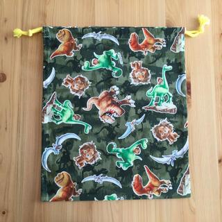ディズニー(Disney)の巾着(36×30) 体操着袋 給食着袋 アーロンと少年(体操着入れ)