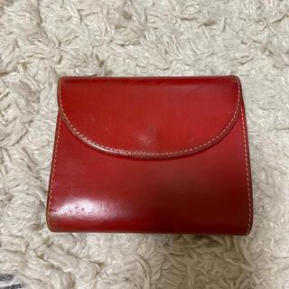 ホワイトハウスコックス(WHITEHOUSE COX)のWhitehouseCox ホワイトハウスコックス 折りたたみ財布 レッド(折り財布)