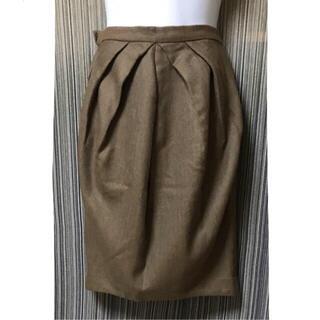 変形 スカート コクーン 茶色 個性的 デザインスカート