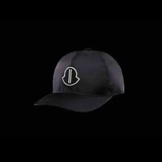 モンクレール(MONCLER)の【黒】moncler rick Owens モンクレールベースボールキャップ(キャップ)
