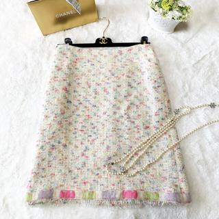 CHANEL - 美品 CHANEL シャネル runway カラフル ツイード スカート