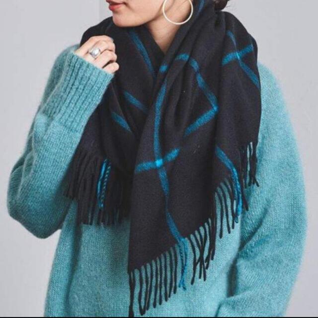 UNITED ARROWS(ユナイテッドアローズ)のジョシュアエリス 新品ウインドウペン柄 レディースのファッション小物(ストール/パシュミナ)の商品写真