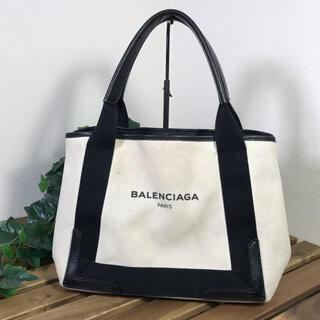 BALENCIAGA BAG - BALENCIAGA  ネイビーカバス  バレンシアガ  トートバッグ