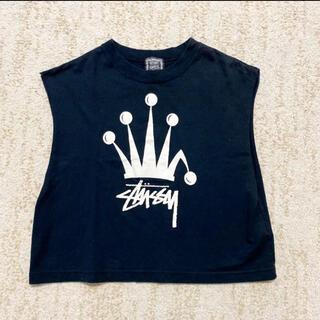 ステューシー(STUSSY)のステューシー ノースリーブ タンクトップ ロゴTシャツ レディース(Tシャツ(半袖/袖なし))