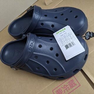 クロックス(crocs)のクロックス crocs レイレンクロッグ ネイビー 28cm(サンダル)