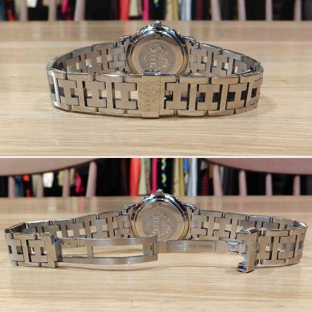 Hermes(エルメス)の超美品 エルメス 研磨済み クリッパー レディース グレー文字盤 CL4.210 レディースのファッション小物(腕時計)の商品写真