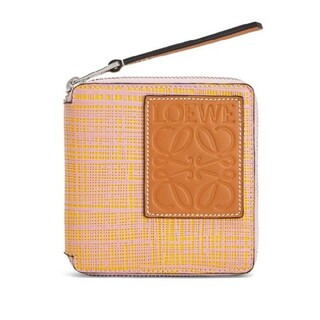LOEWE - LOEWE スクエアジップテクスチャー二つ折り財布
