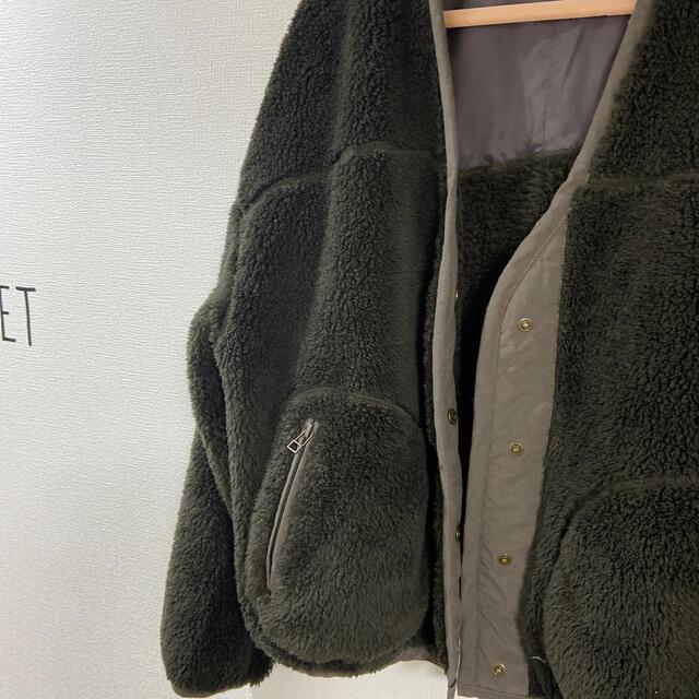 JOURNAL STANDARD(ジャーナルスタンダード)のJOURNAL STANDARD ショート丈ボアコート(カーキ) レディースのジャケット/アウター(その他)の商品写真