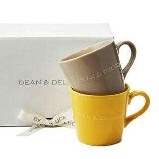 ディーンアンドデルーカ(DEAN & DELUCA)のDEAN&DELUCA モーニングマグ アーモンドベージュ キャラメルイエロー(グラス/カップ)