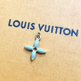 ルイヴィトン(LOUIS VUITTON)の正規品 ヴィトン ペンダント ゴールド モノグラム フラワー 花 ネックレス 緑(ネックレス)