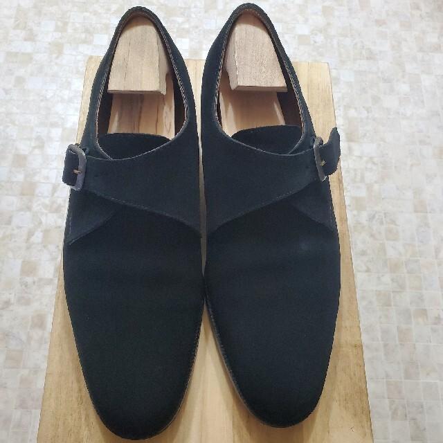 JOHN LOBB(ジョンロブ)のYUKI SHIRAHAMA BOTTIER 7E スエード ブラック メンズの靴/シューズ(ドレス/ビジネス)の商品写真