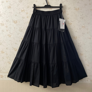 GALLERY VISCONTI - ☆ギャラリービスコンティ☆新品タグ付き‼︎可愛いティアードロングスカート ♪