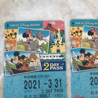 ディズニー(Disney)のディズニーリゾートライン 2Day pass 2枚(鉄道乗車券)