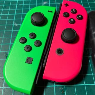 Nintendo Switch - ジョイコン  ★スプラカラ〜★ ストラップ付き‼️ 作動品 美品