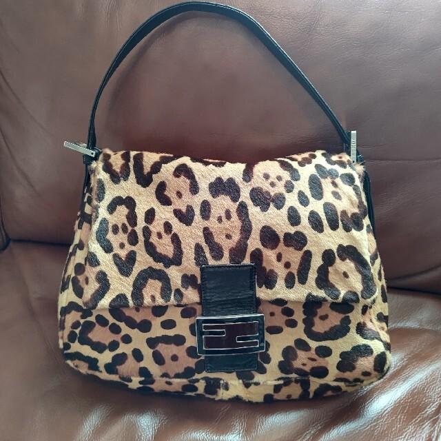 FENDI(フェンディ)のFENDI フェンディ ハンドバッグ  マンマ バゲット レオパード 豹柄ハラコ レディースのバッグ(ハンドバッグ)の商品写真