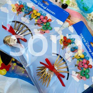 ディズニー(Disney)の新商品☆ ミッキー バルーン カトラリー スプーン フォーク ディズニー(カトラリー/箸)