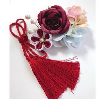 髪飾り バラと小花たち  卒業式 成人式 七五三(ヘアアクセサリー)