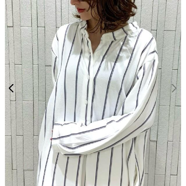 gelato pique(ジェラートピケ)の未使用ジェラートピケ 温泉接結シャツドレス オフホワイト レディースのルームウェア/パジャマ(ルームウェア)の商品写真