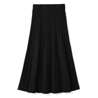 ZARA - ♡新品♡ニットプリーツスカート ブラック