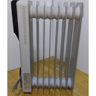 デロンギ(DeLonghi)の【土日限定価格!】オイルラジエターヒーター 暖房 速暖 白ホワイト(オイルヒーター)