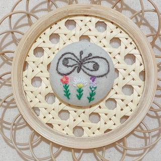 mina perhonen - ミナペルホネン 風 ヘアゴム ブローチ 刺繍