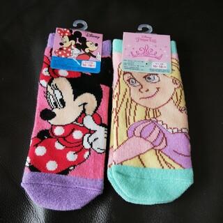 ディズニー(Disney)の新品 未使用 ディズニー プリンセス ミニー ショート丈 キッズ 靴下16-18(靴下/タイツ)