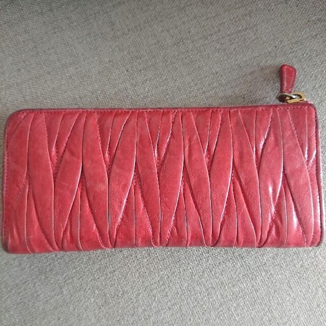 miumiu(ミュウミュウ)のmiumiu ミュウミュウ マテラッセ 長財布 レディースのファッション小物(財布)の商品写真