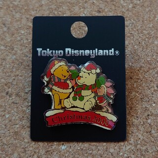 クマノプーサン(くまのプーさん)のTDL ディズニー ピンバッジ くまのプーさん ピグレット クリスマス2000(バッジ/ピンバッジ)