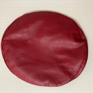 STYLENANDA - レザー風ベレー帽 赤
