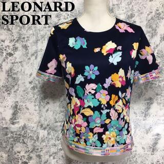 LEONARD - レオナールスポーツ 花柄 半袖 Tシャツ カットソー ゴルフ M相当