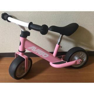 トイザラス(トイザらス)のAVIGO アヴィーゴ トレーニングバイク ピンク コマなし 幼児 (三輪車/乗り物)