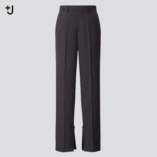 ジルサンダー(Jil Sander)の+J ユニクロ ウールブレンドスリムパンツ(ストライプ・丈標準70~72cm)(カジュアルパンツ)