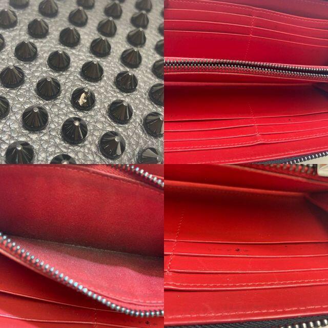 Christian Louboutin(クリスチャンルブタン)のクリスチャンルブタン パネトーネ スタッズ ラウンド長財布  レザー  ブラック レディースのファッション小物(財布)の商品写真