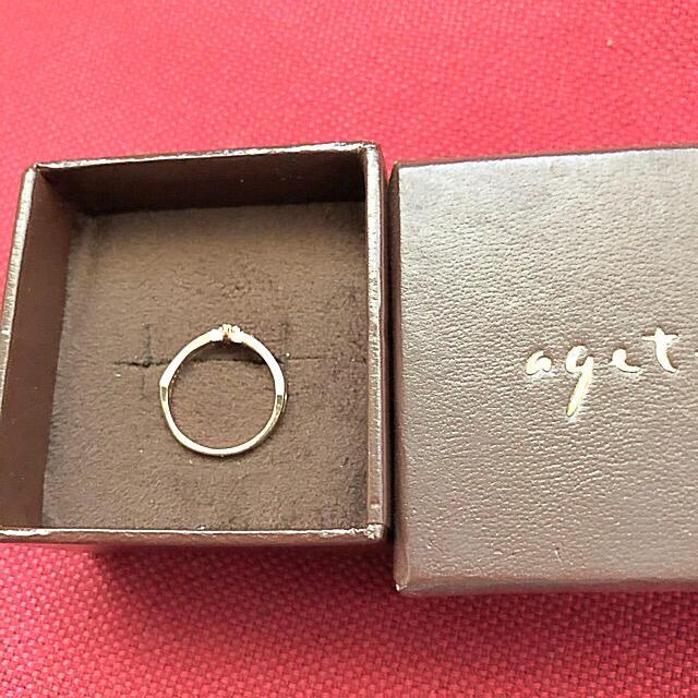 agete(アガット)のアガット ダイヤモンドリング k10 レディースのアクセサリー(リング(指輪))の商品写真
