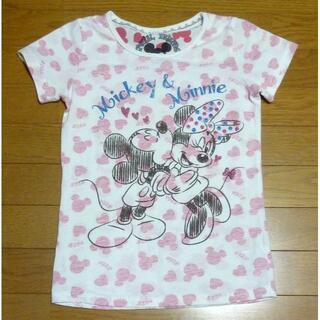 ディズニー(Disney)のディズニー ミニーちゃんのTシャツ サイズ150 <j146>(Tシャツ/カットソー)