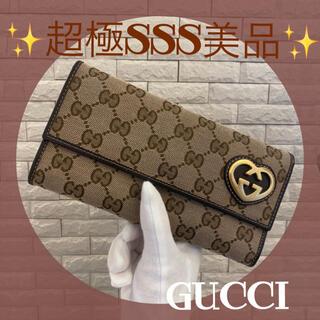 Gucci - 大きなハートロゴが可愛いすぎる❣️GUCCI グッチ キャンバス 長財布
