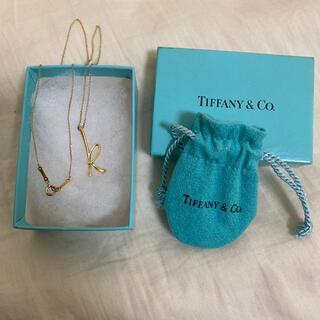 Tiffany & Co. - Tiffany ゴールド ネックレス イニシャル k