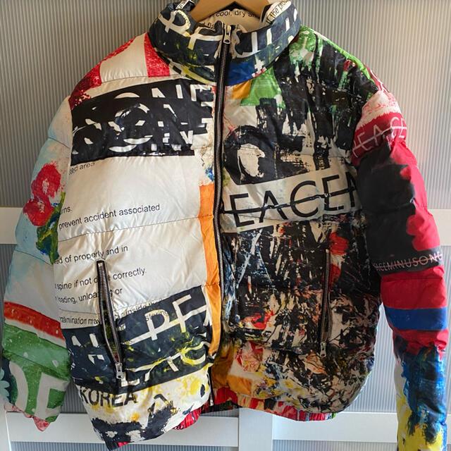 PEACEMINUSONE(ピースマイナスワン)のpeaceminusone PMO PUFFER JACKET MULTI メンズのジャケット/アウター(ダウンジャケット)の商品写真