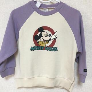 ディズニー(Disney)の新作  完売品 レア ❤️ ディズニー レトロ ミッキー 起毛 トレーナー(Tシャツ/カットソー)