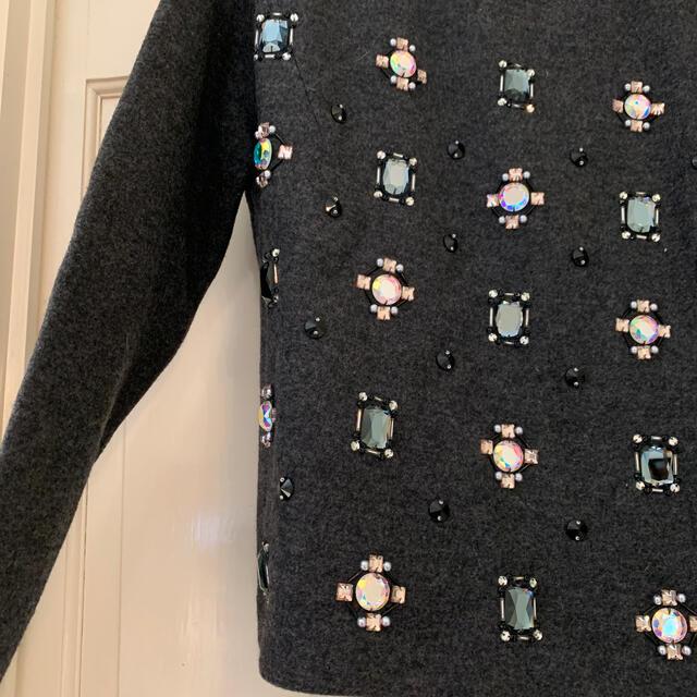 LE CIEL BLEU(ルシェルブルー)のLE CIEL BLEU*ビジュー付きニット レディースのトップス(ニット/セーター)の商品写真