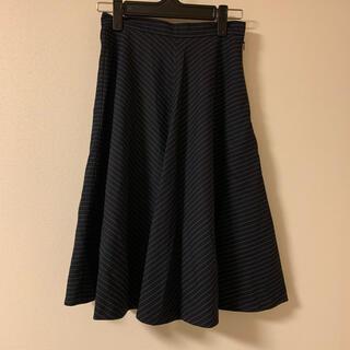 GU - GU ひざ丈スカート フレアスカート オフィスカジュアル