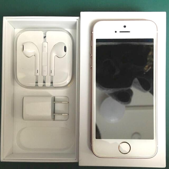 iPhone(アイフォーン)のiPhone SE Rose Gold 32 GB SIMフリー スマホ/家電/カメラのスマートフォン/携帯電話(スマートフォン本体)の商品写真